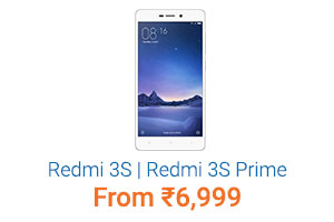 Redmi 3S| Redmi 3S Prime Starting Rs.6,999